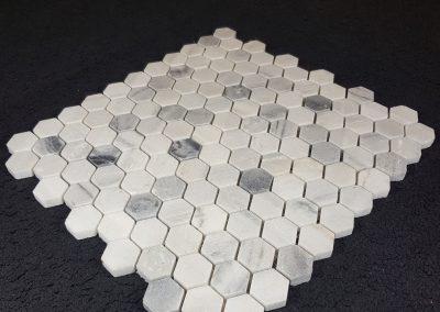 Mosaïque hexagonale de marbre Rain cloud