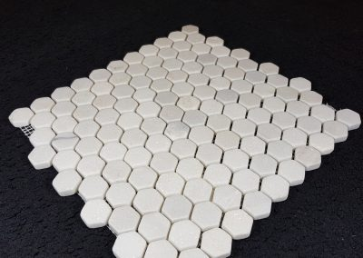 Mosaïque hexagonale marbre Thassos blanc