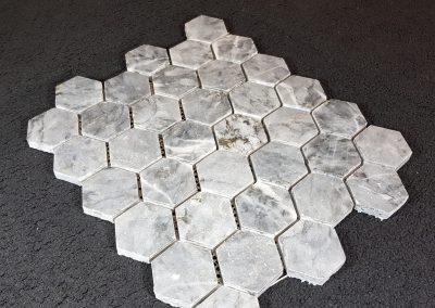 mosaïque marbre gris