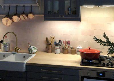 Majolique de Paris pour cuisine, Carreaux unis pour cuisine, carreaux de qualité