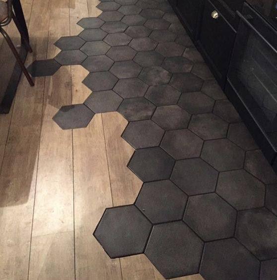 Carreaux unis hexagone